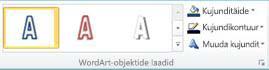 Jaotis WordArt-laadid rakenduses Publisher 2010