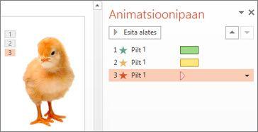 Ühele objektile mitme animatsiooni rakendamine