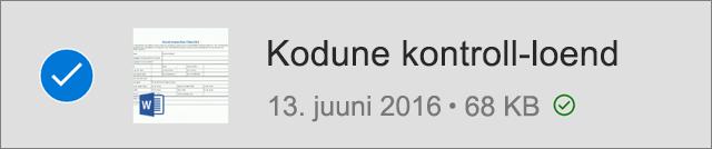 Ühenduseta kasutuseks märgitud OneDrive'i fail