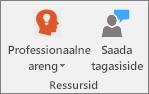 Klassimärkmiku vahekaardi ressursside rühm.