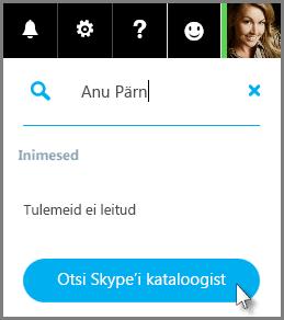 Nupu Otsing Skype'i nimistust klõpsamine
