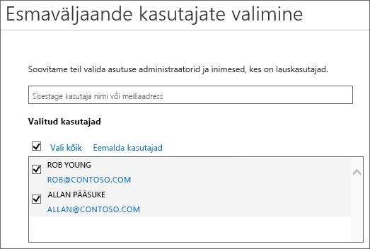 Office 365 väljaandekavades kasutajate lisamine