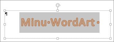 Valitud WordArt-objekt