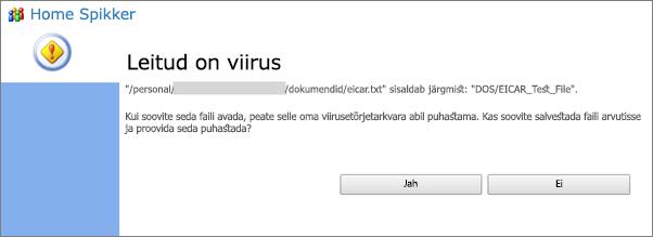 Viiruse hoiatus