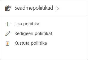 Halduskeskuse kaart Seadmepoliitikad.