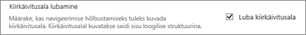 Pilt jaotises puuvaate lubamine jaotises navigeerimine elemendid
