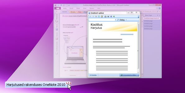 onenote 2010 harjutus