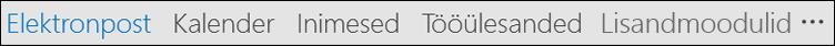 Sõnade või ikoonid, võidakse kuvada oma navigeerimisribale.