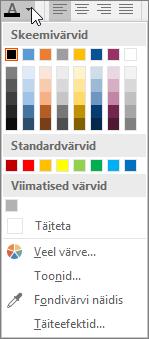 Fondi värvipalett