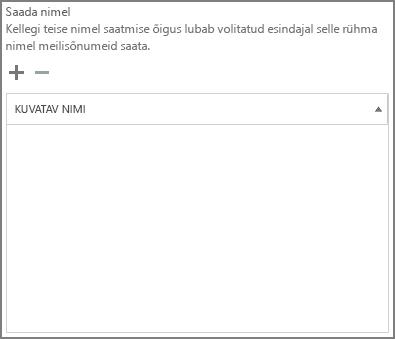 Kuvatõmmis: valige plussmärk, et lisada kasutajad, kellele soovite sõnumi saata Office 365 rühmana