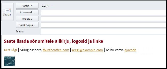 electronic signature email message
