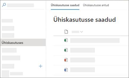 OneDrive for Business veebis vaadata ühiskasutuses minuga kuvatõmmis