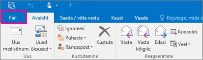Outlook 2016 lindi ilme.