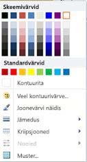WordArt-kujundi kontuuri vormindussuvandid rakenduses Publisher 2010