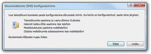 Sõnumsidekonto konfigureerimine