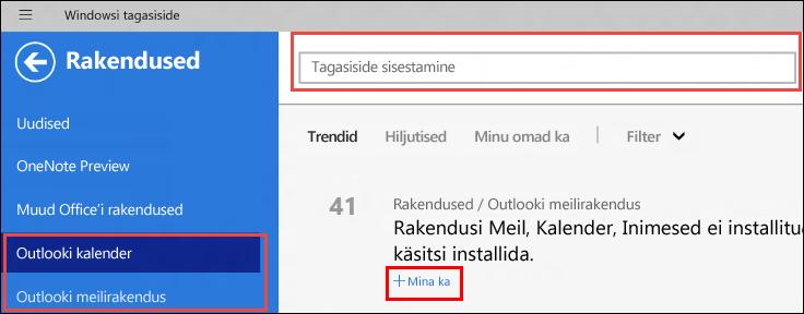 Windowsi tagasiside leht