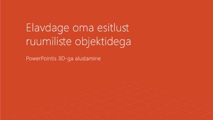 Kuvatõmmis ruumilisest PowerPointi malli esilehest
