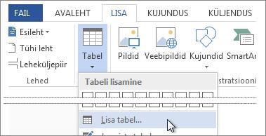 Lisa tabel