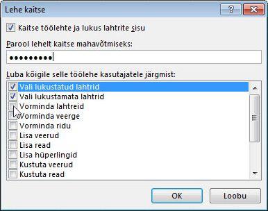Dialoogiboks Lehe kaitse