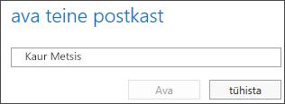 Outlook Web Appi dialoogiboks Teise postkasti avamine