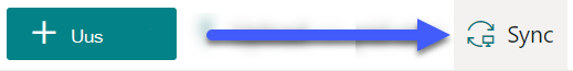 SharePointi dokumenditeekide korral on nupp Sünkrooni lehe ülaosas saadaval.
