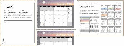 Mallide näited (faksi tiitelleht, kalender, sündmuse ajakava)