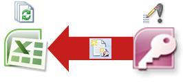 Accessi andmetega ühenduse loomine Exceli kaudu