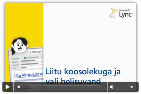 Video juhtelementidega PowerPointi slaidi kuvatõmmis