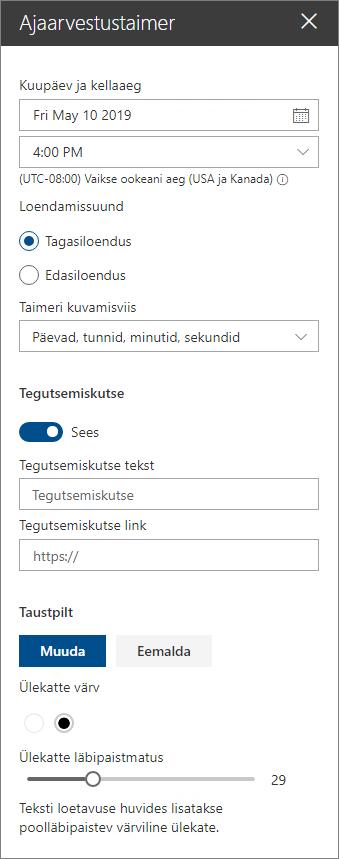 Loendust web veebiosa atribuudi tööriistakasti