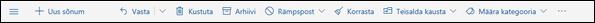 Outlook.com-i sõnumi tööriistariba
