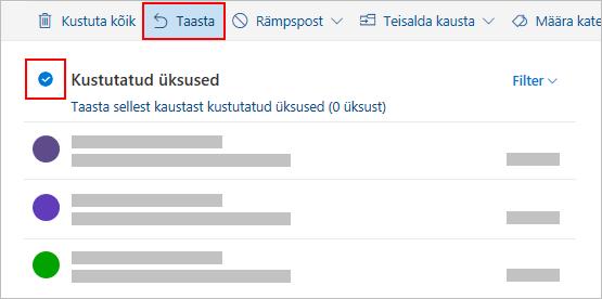Outlook.com kustutamine