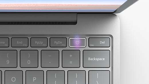 Nupp sõrmejälgede toide Surface sülearvutid liikvel olles