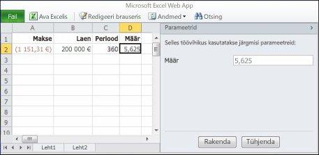 Parameetri kasutamine veebibrauseris