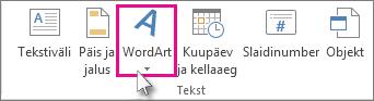 Klõpsake WordArt-objekti lisamiseks
