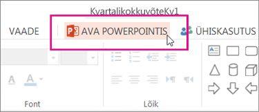 PowerPointi töölauaversioonis avamine