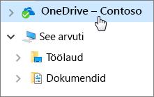 Lühijuhend töötajatele Töölaua dokumendid ja OneDrive