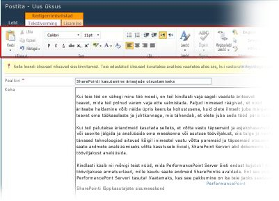 RTF-redaktor ajaveebide jaoks
