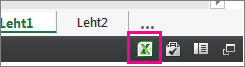 Exceli ikoon veebirakenduses Excel Web