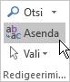 Klõpsake Outlooki menüü Teksti vormindamine jaotise Redigeerimine nuppu Asenda.