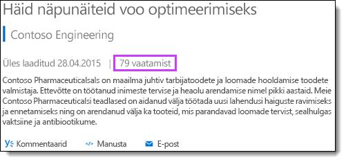 Office 365 video statistika vaated