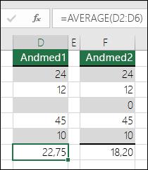 Excel kuvab veaväärtuse, juhul kui valem viitab tühjadele lahtritele
