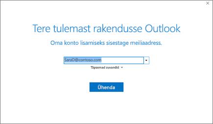 Tere tulemast kasutama rakendust Outlook