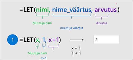 Näitab funktsiooni lase Excelis