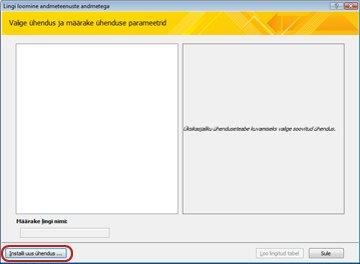Veebiteenuse andmeühenduse installimine