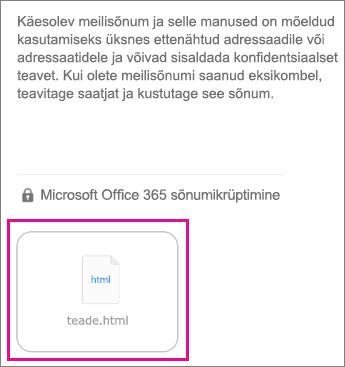OME sõnumivaatur iOS-i meilirakenduse jaoks 1