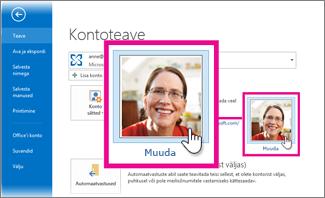 Office'i minu pildi muutmine Outlooki kaudu