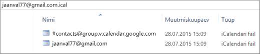Pilt lahti pakitud eksporditud kalendrist.