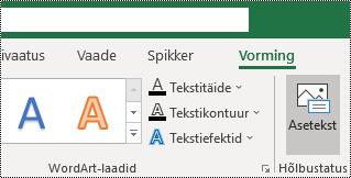 Teksti kuvamiseks nuppu Alt Excel for Windows lindil