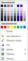 WordArt-kujundi täitmissuvandid rakenduses Publisher 2010