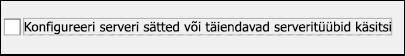 Valige Yahoo meiliteenuse käsitsihäälestus